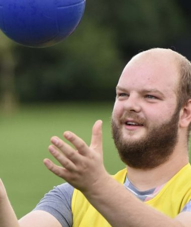 Person with learning difficulties enjoying sport activities