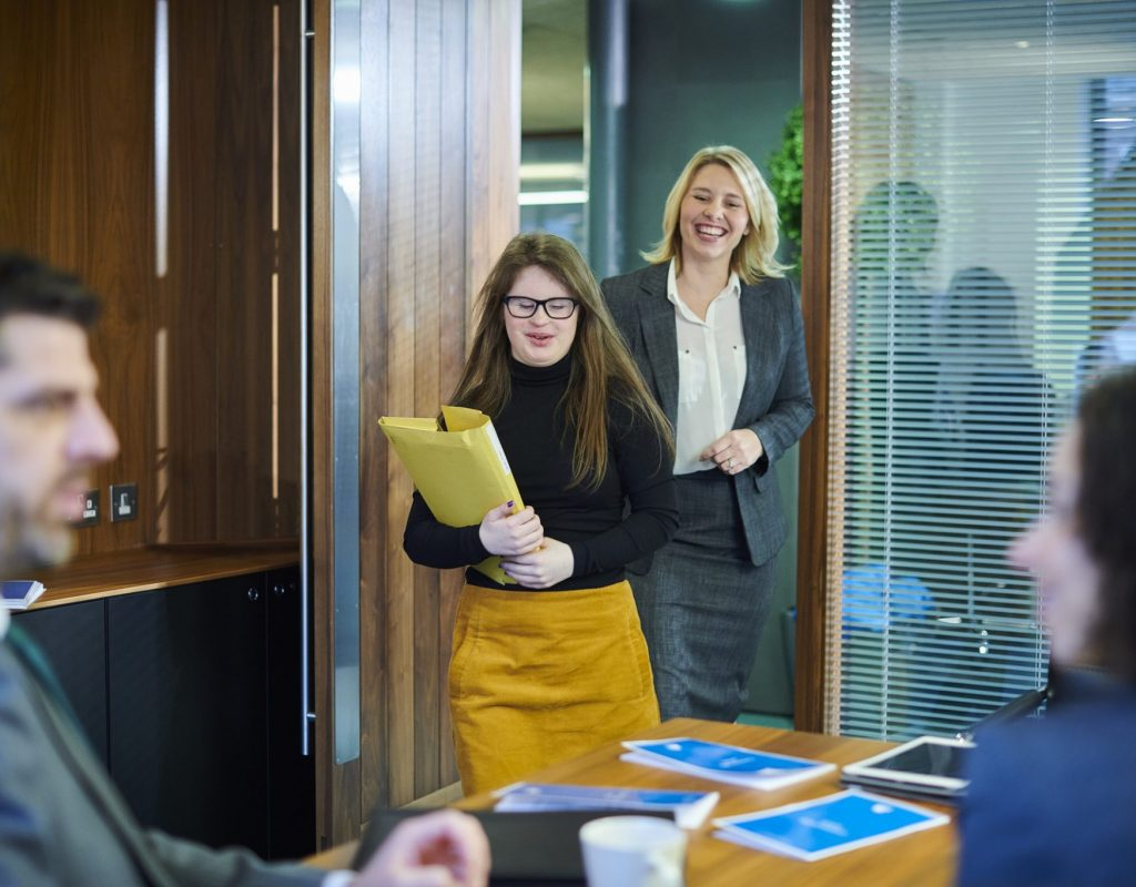 a young school leaver learns all about the office
